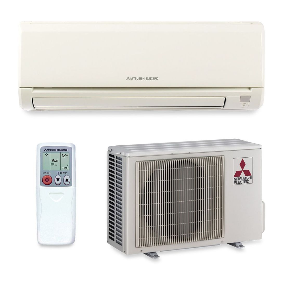 Mitsubishi 9 000 Btu 24 6 Seer Wall Mount Ductless Mini Split Air Conditioner Heat Pump 208 230v Ductless Mini Split Ductless Window Unit