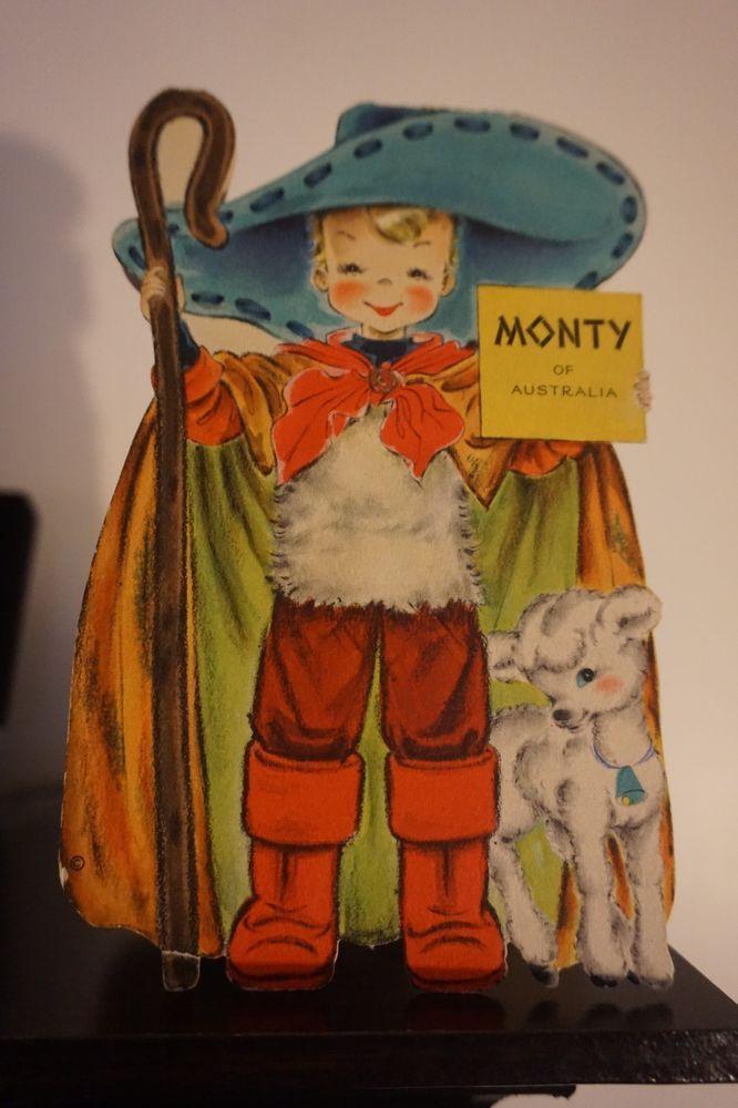 Vintage hallmark dolls of the world card montyof australia 29 collectible vintage greeting cards ebay m4hsunfo