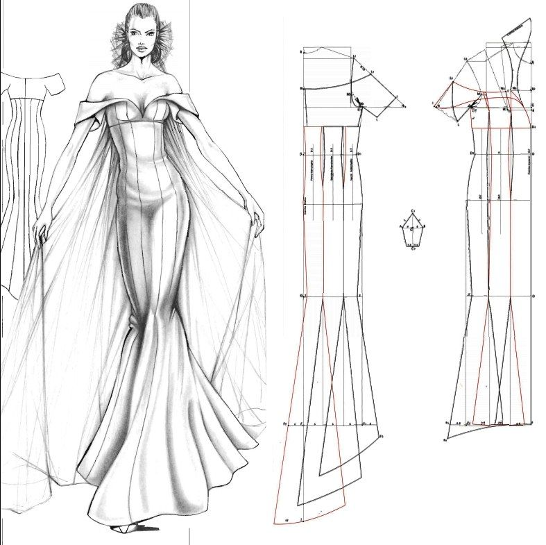 I Would Love To Use This Pattern For Something It Will Hit Me Later Beauteous Mermaid Dress Pattern