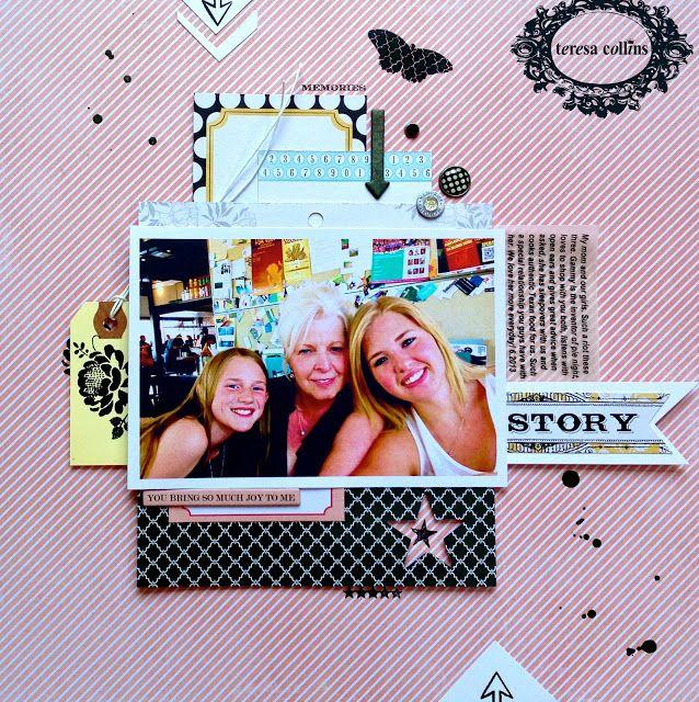 TERESA COLLINS DESIGN TEAM: Story Layout using Summer Stories by Dedra Long