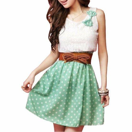 Very cute....my style / Allegra K Ladies Scoop Neck Sleeveless Lace Upper Detail Casual Dress