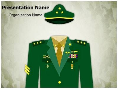 general military uniform powerpoint template is one of the best