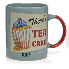Wilko Retro Tea Mug Blue Retro Campers Retro Tea Mugs