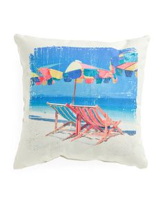 Attirant Made In India 20x20 Beach Chair Pillow