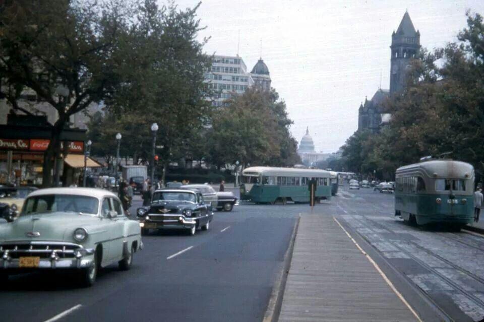 Washington, DC Pennsylvania Ave. 1950's Old washington