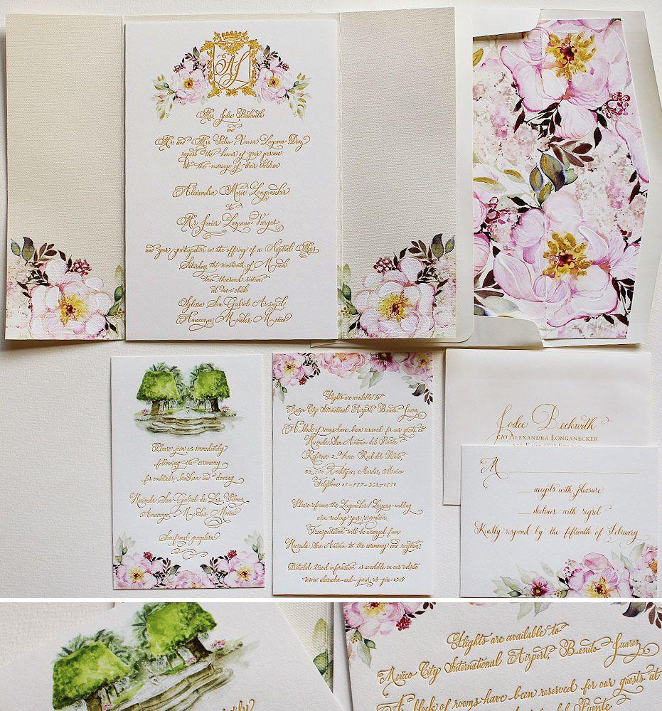 A Peek into the Studio - Watercolor and Letterpress Wedding Invites ...