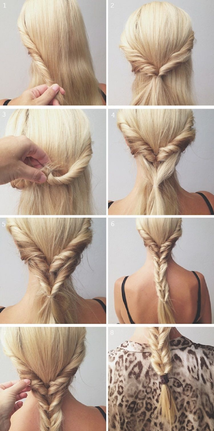 10 Lazy Hairstyle Ideas Stay At Home Mum Hair Styles Long Hair Styles Fish Tail Braid