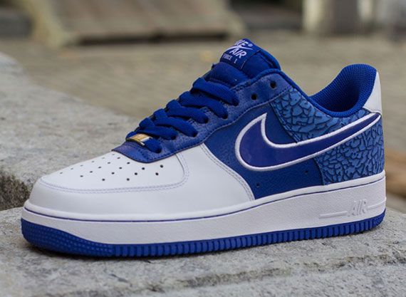 nike air force white and blue