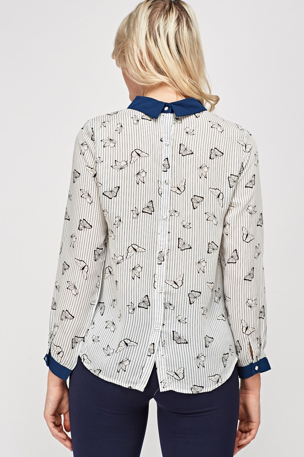c91d24b106 Button Back Printed Top - White Multi - Just £5