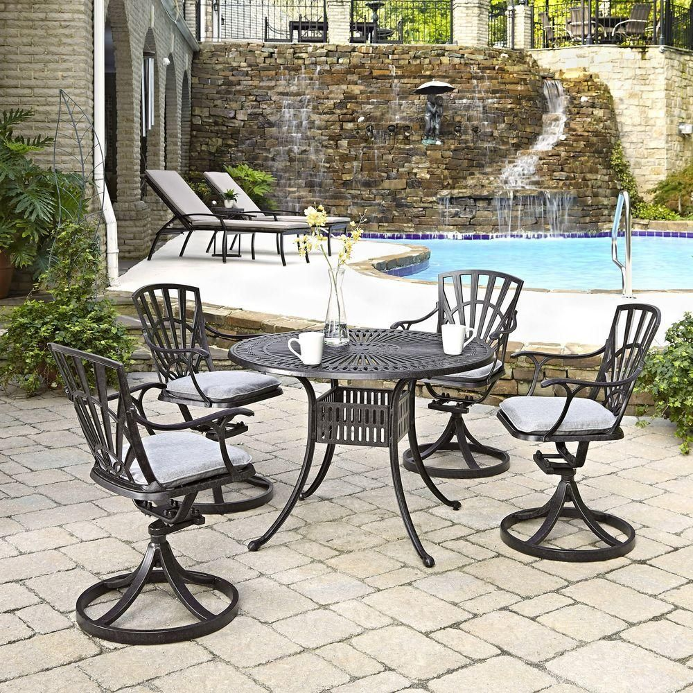 Home styles largo in piece patio dining set with cushions