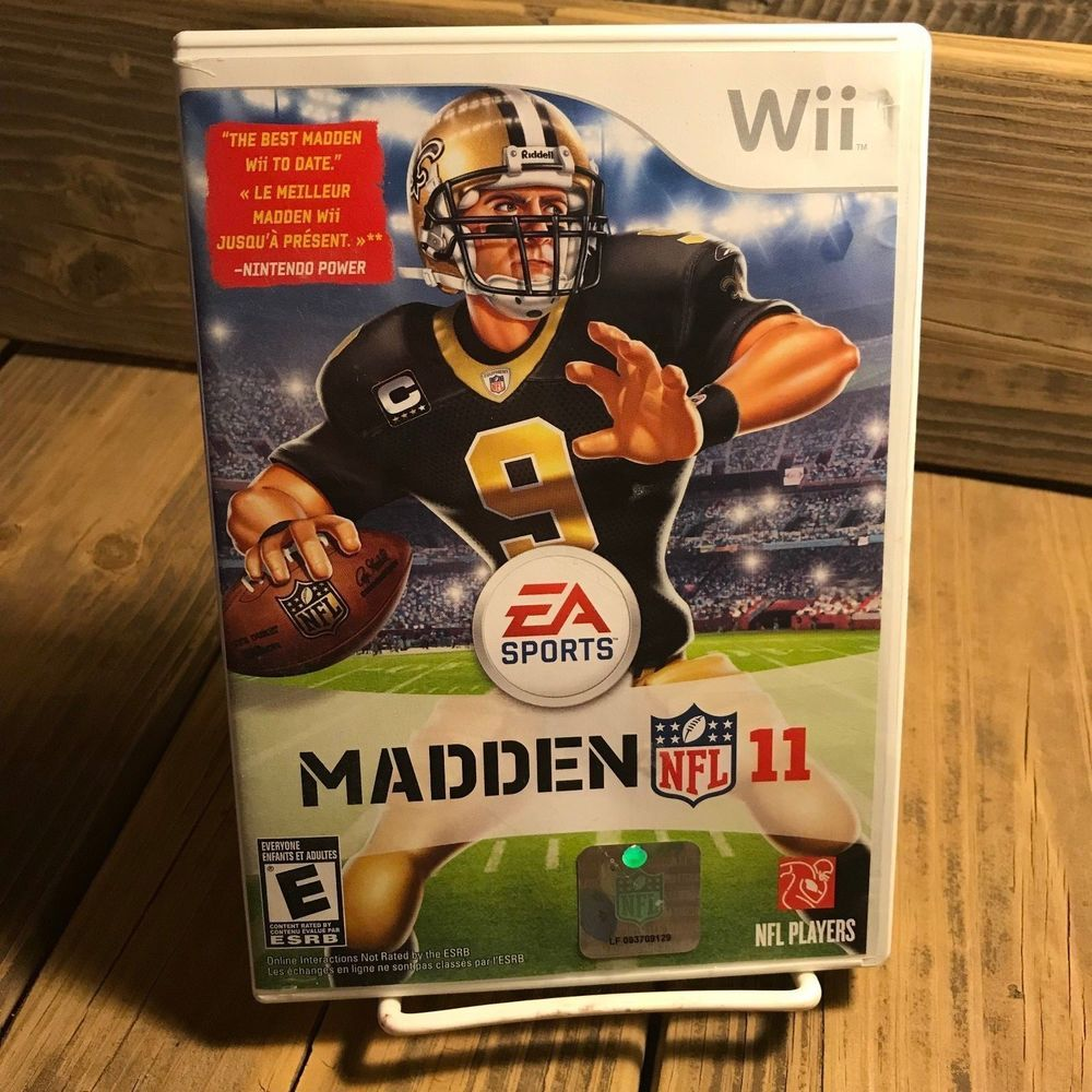 Madden NFL 11 (Nintendo Wii, 2010) Game with DREW BREES 9