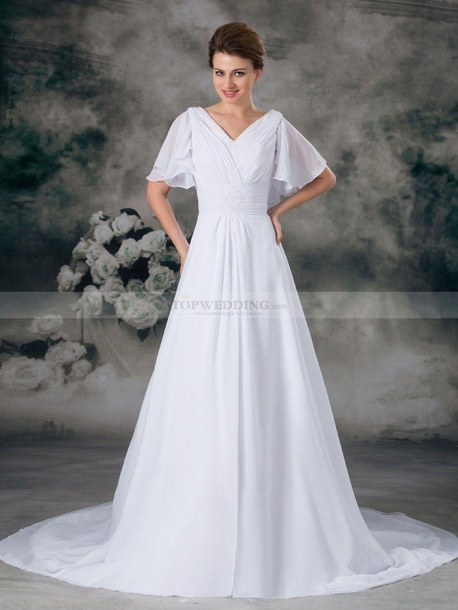 Bell Sleeves Bridal Gowns Google Search Tea Length Bridesmaid Dresses A Line Wedding Dress Designer Wedding Gowns [ 1200 x 900 Pixel ]