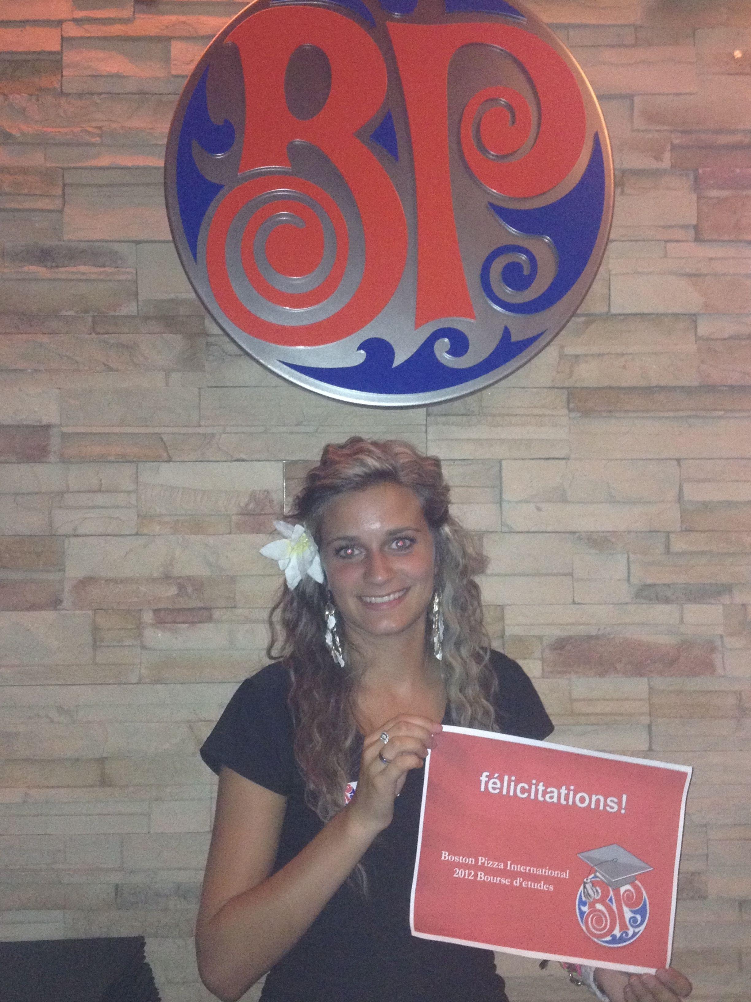 2012 bpi scholarship winner audrey deslongchamps with