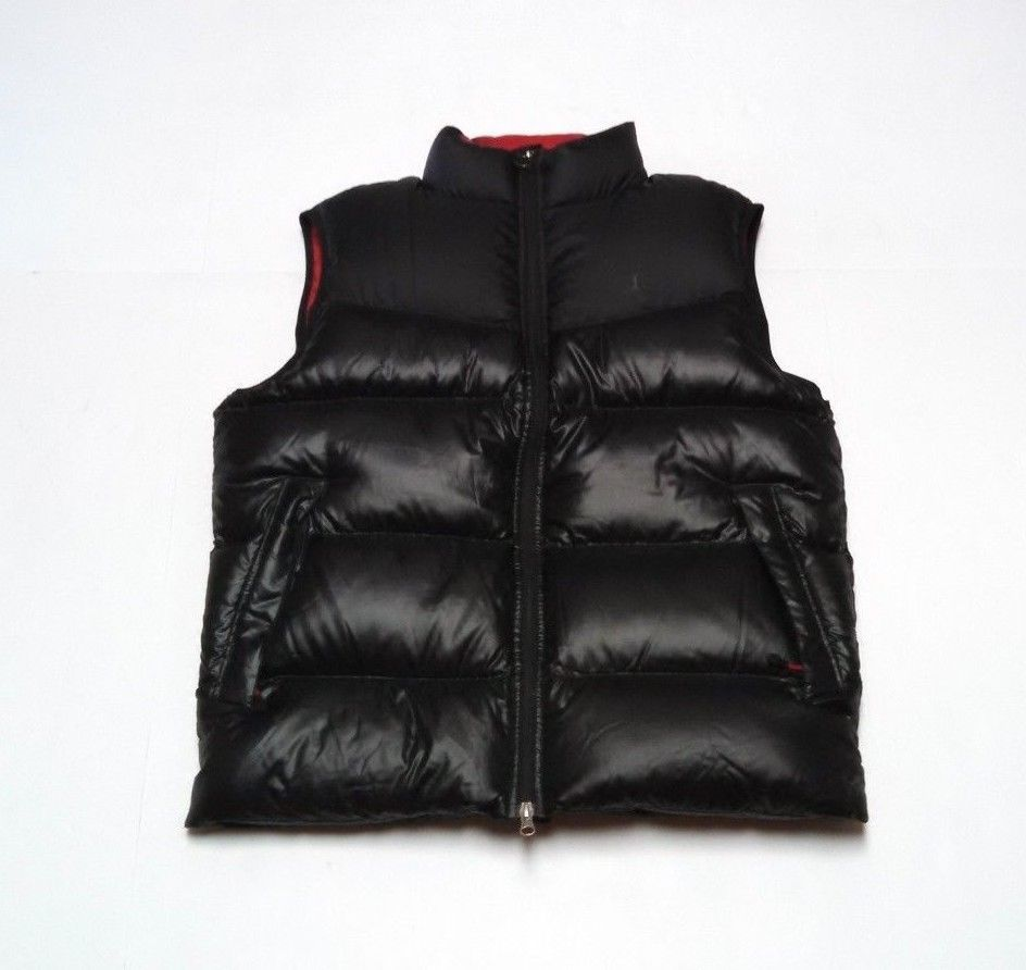 0117ddc3663c Mens Nike Jordan Jumpman Puffer Vest Medium Duck Down Full Zip Black Red   Nike  FullZipVest