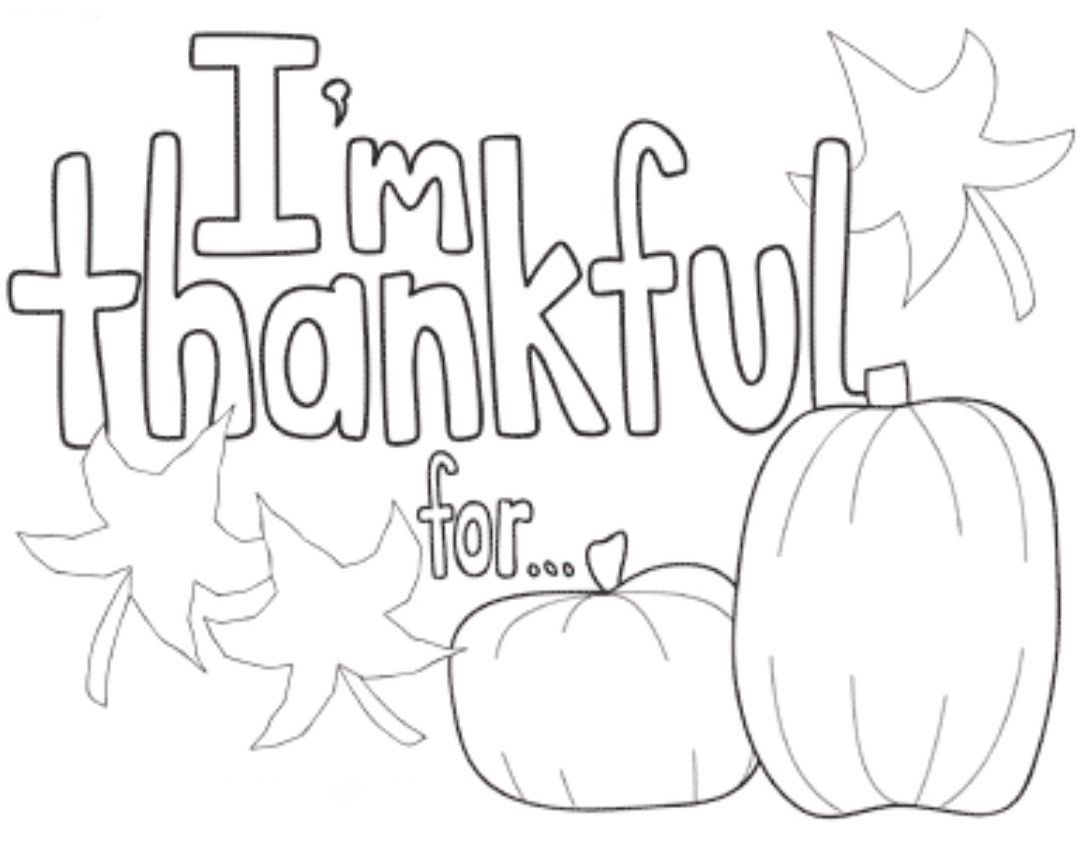 Thankful coloring page Sunday school coloring pages