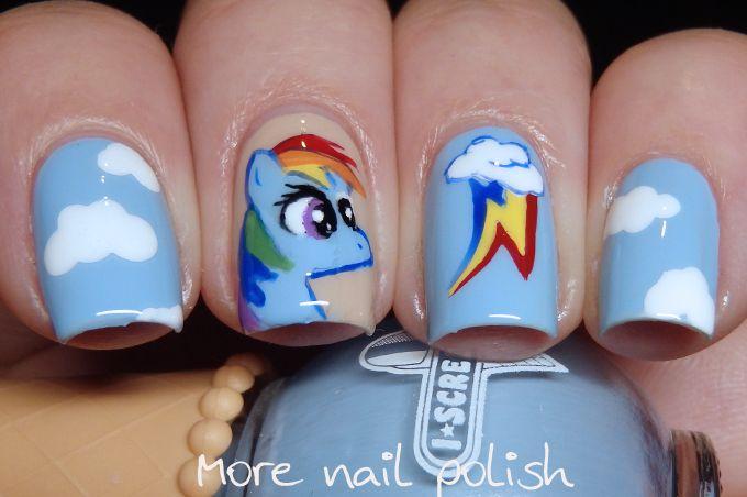 My Little Pony - Rainbow dash   Bella\'s nails   Pinterest   Manicuras
