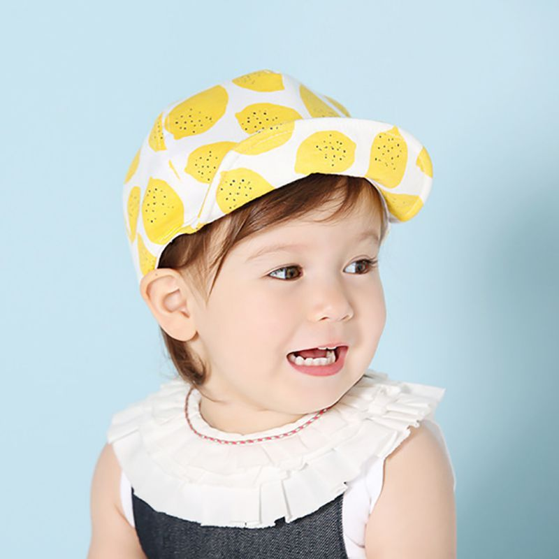 Mother & Kids Ideacherry Summer Cute Baby Hat Fruit Pattern Lace Hollow For Princess Baby Girl Cap Toddler Kids Fashion Beach Bucket Sun Hats Boys' Baby Clothing