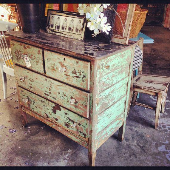 Primitive Style Dresser By Junction40Nine On Etsy, $425.00