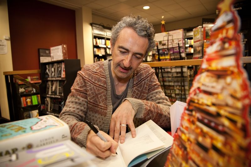 12/12/12 Christmas Author Evening - Simon Garfield signing copies of 'On The Map'