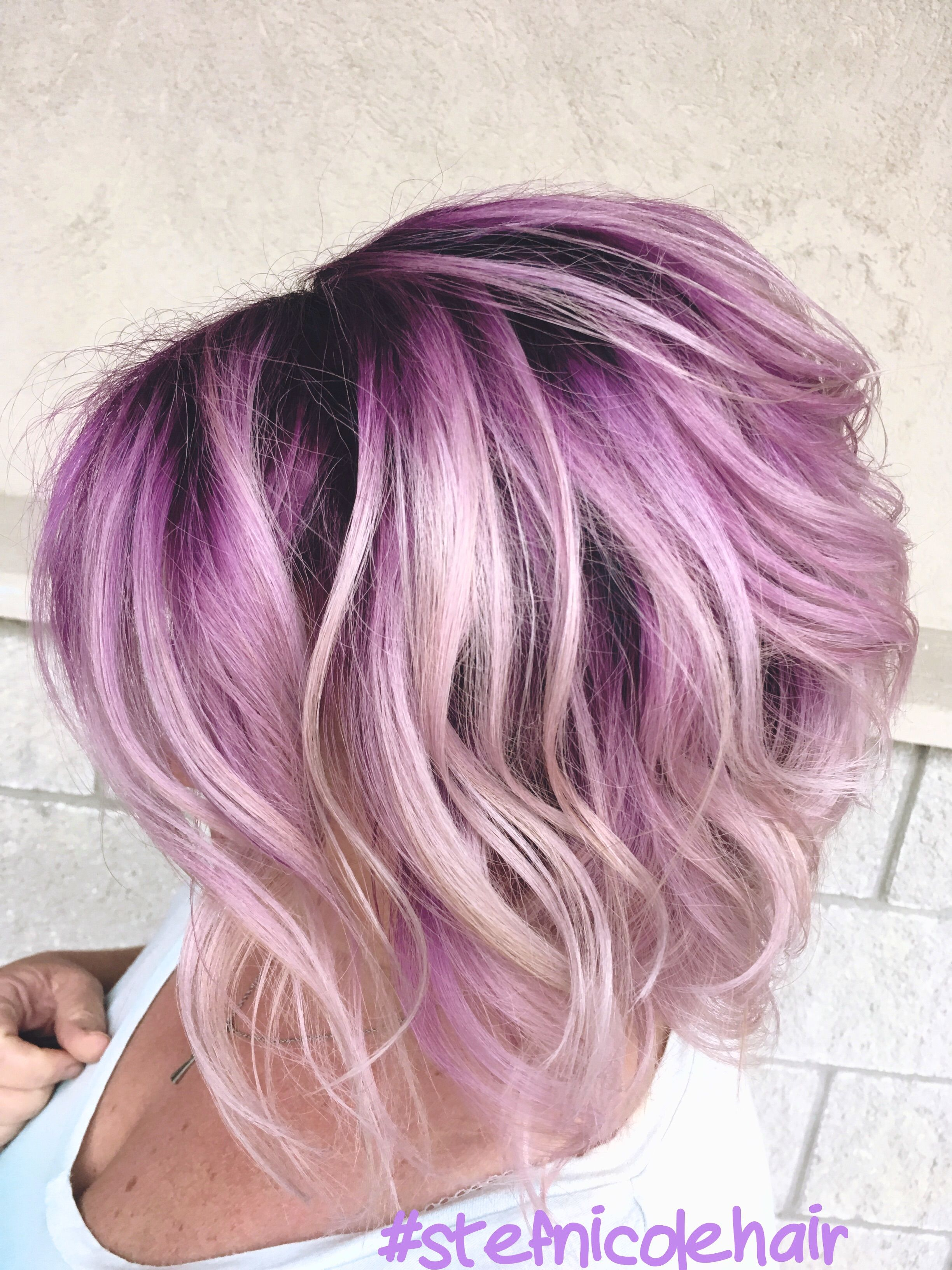 Purple Root Roots Hair Hair Color Purple Blonde Hair With Roots