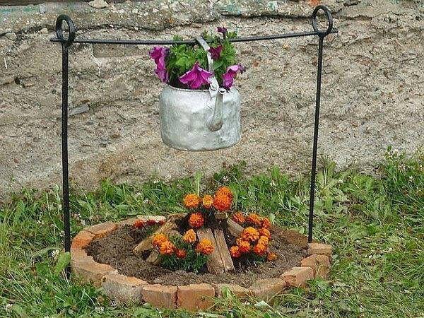 Marigolds Fire Pits Flowers Garden Yard Ideas Unique Gardens