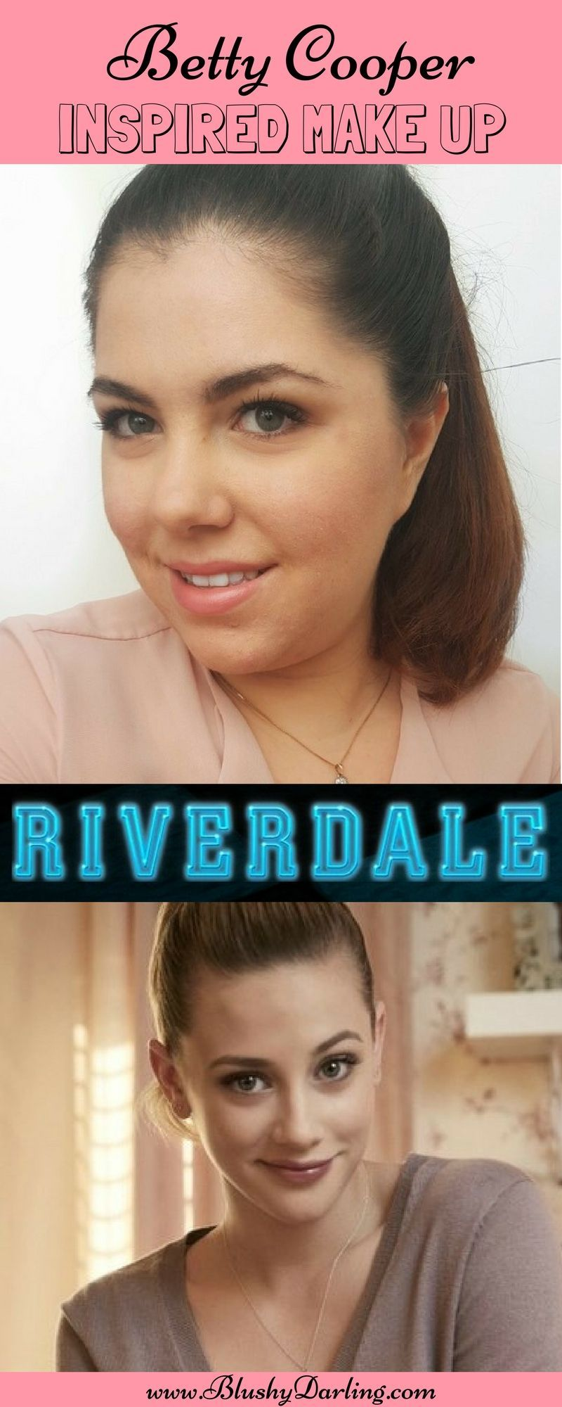 Back To School Betty Cooper From Riverdale Inspired Look Using All Drugstore Makeup Products Makeuptutoria Betty Cooper Back To School Makeup Best Makeup Tips
