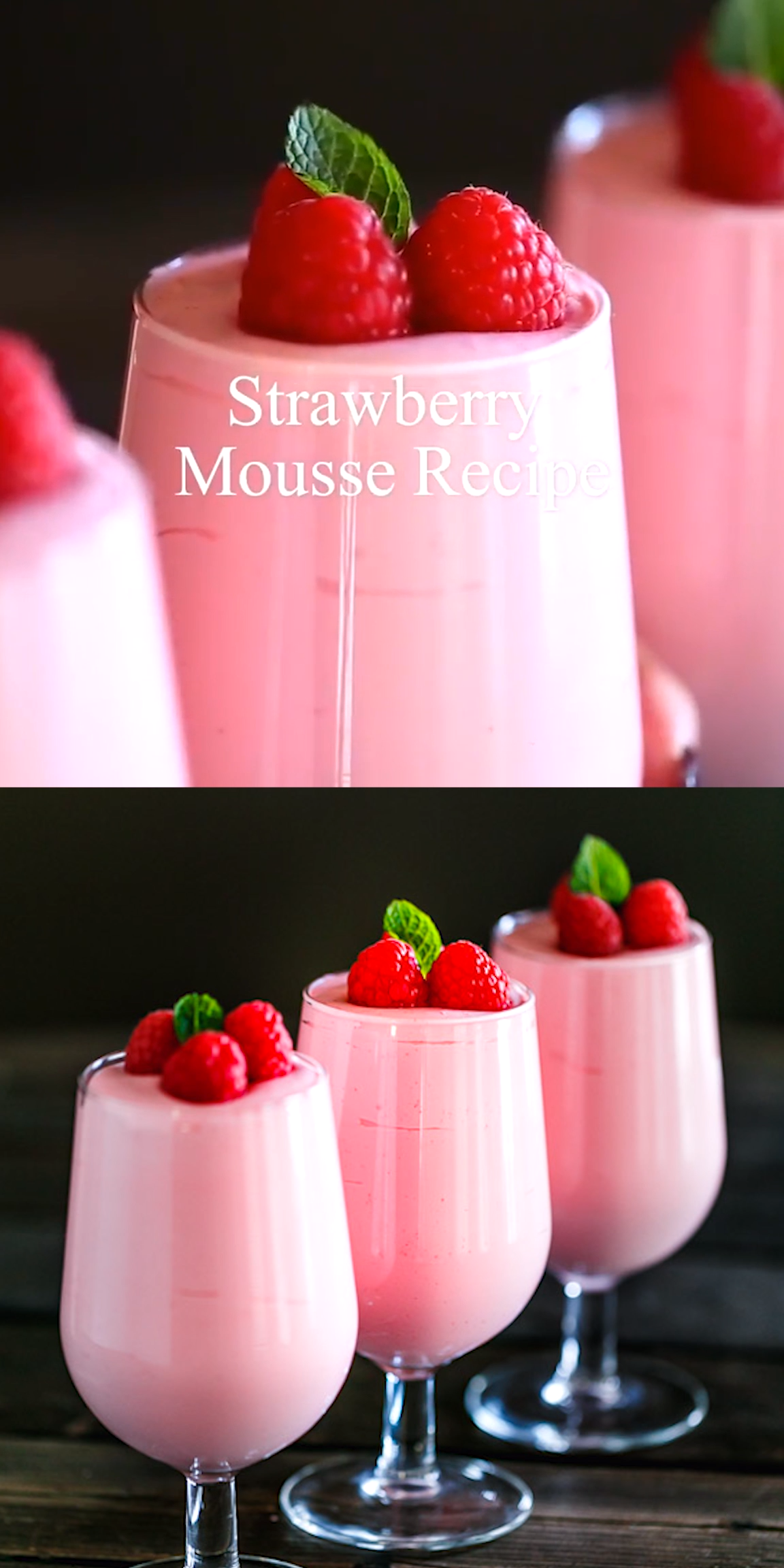 5-Ingredient No-Bake Strawberry Mousse