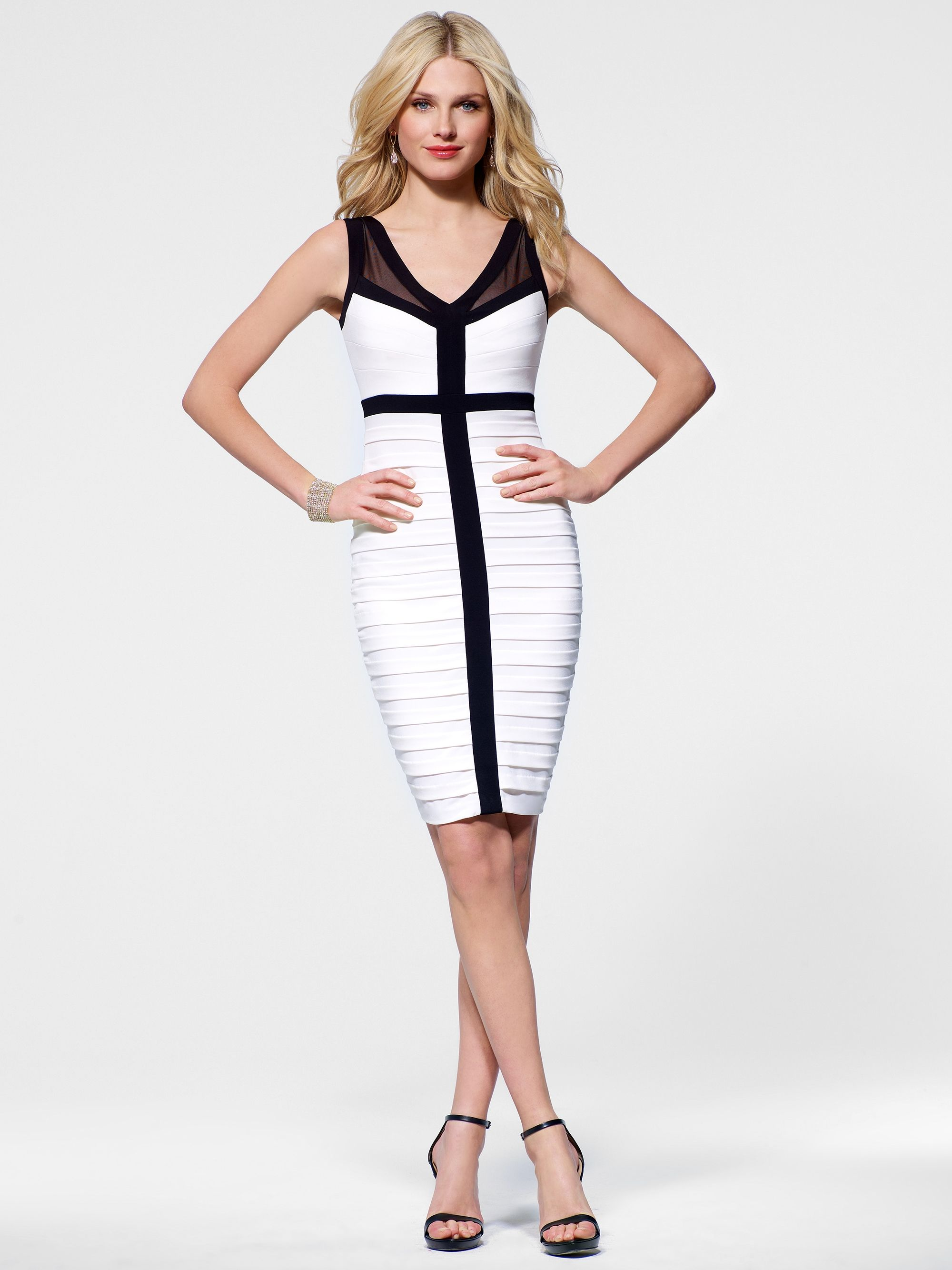 028fdf3e460ce5 Black & White bandage dress. All we need now is a big hat ...