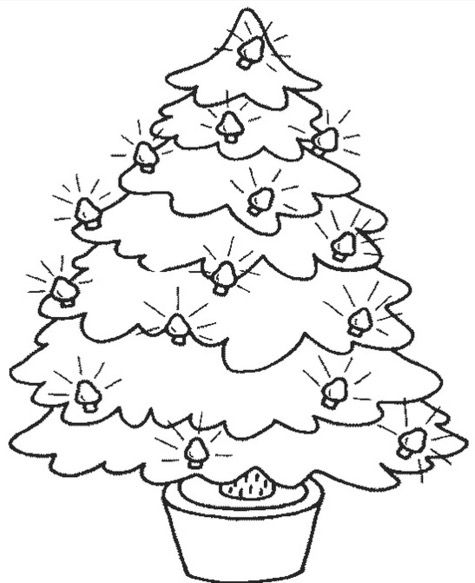 christmas-tree-coloring-page | Coloring Pages | Pinterest ...