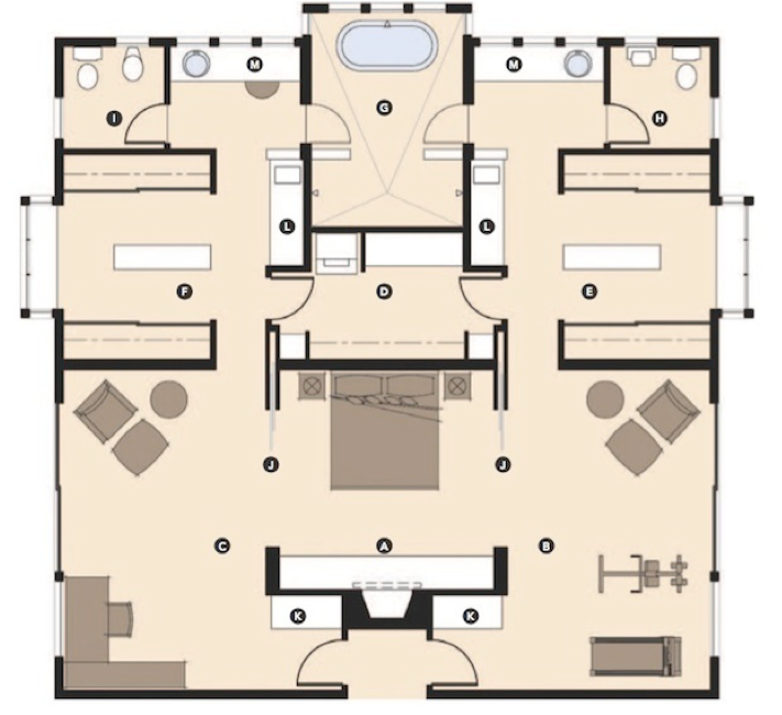 Master Suites In The North Shore Michael Menn Ltd Architecture Construction Excellence Master Bathroom Layout Master Bedroom Plans Master Suite Floor Plan