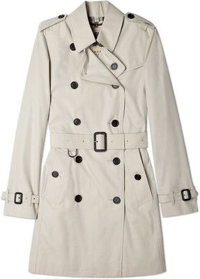 Burberry Brit Stone Cotton Trench Coat - Polyvore