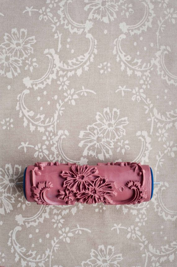 No 12 patterned paint roller from the by for Rolo pintura decorativa efeito papel de parede carimbo