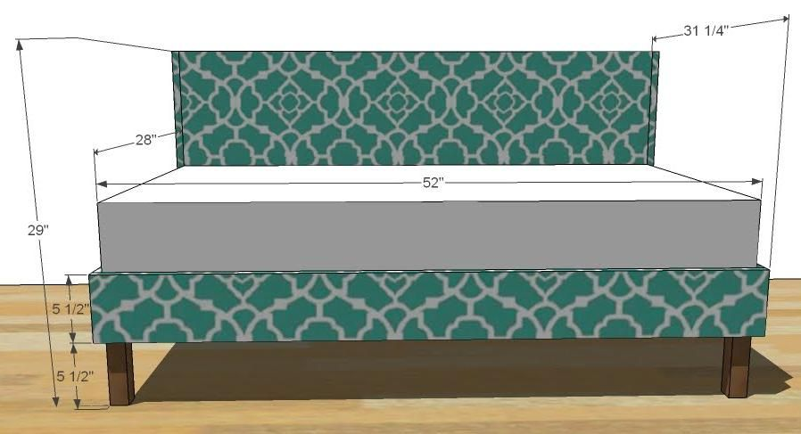 Toddler Upholstered Bed- but make it in a twin size for the girls