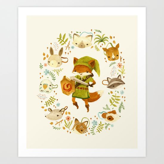 The Legend of Zelda: Mammal's Mask by Teagan White http://society6.com/product/the-legend-of-zelda-mammals-mask_print#1=45