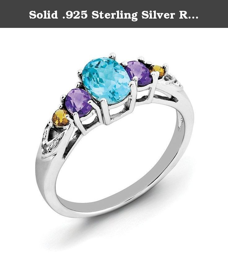 Aquamarine Blue Floral Cluster Ring in SOLID 925 Sterling Silver Sz 9 /& 10