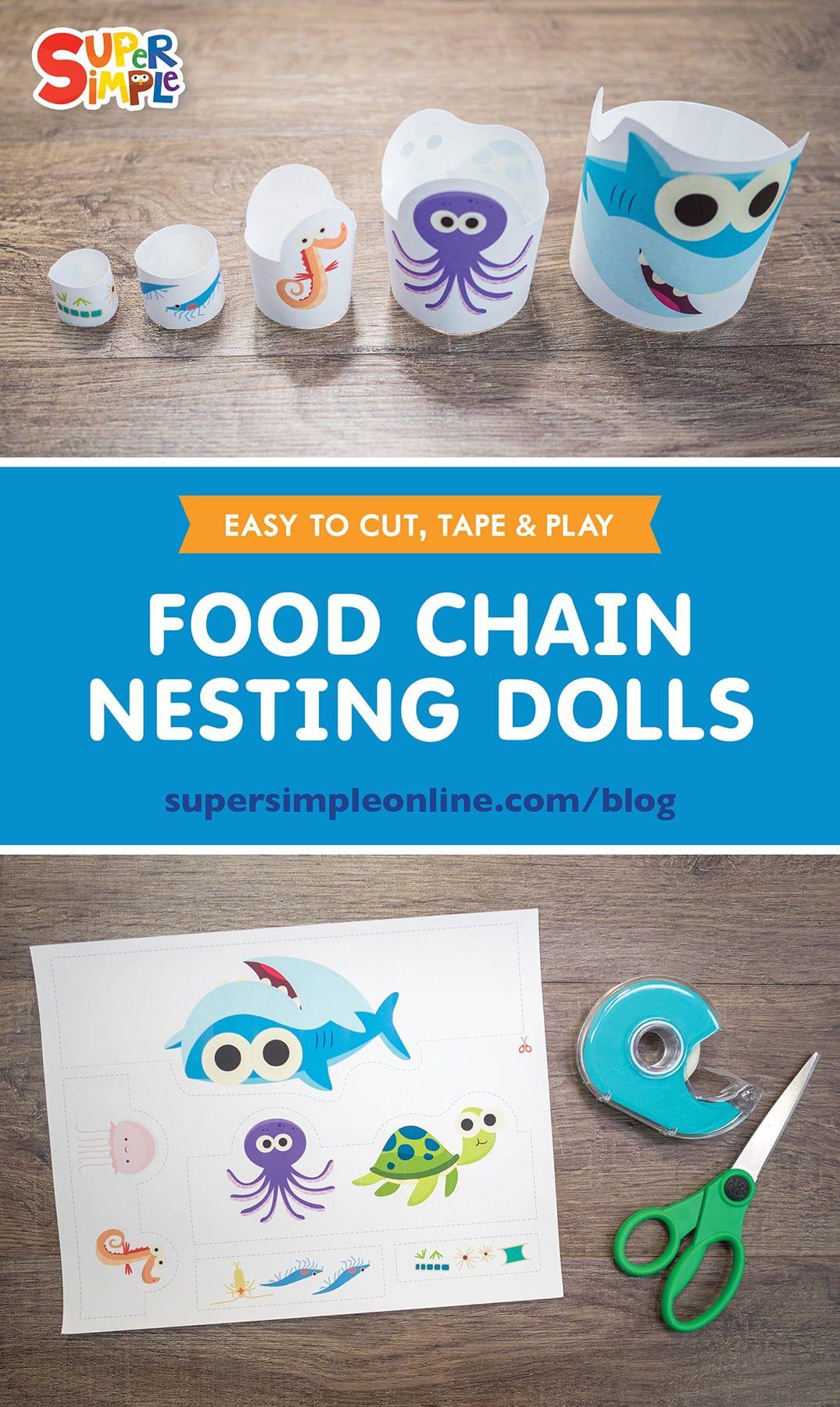 Food Chain Nesting Dolls In