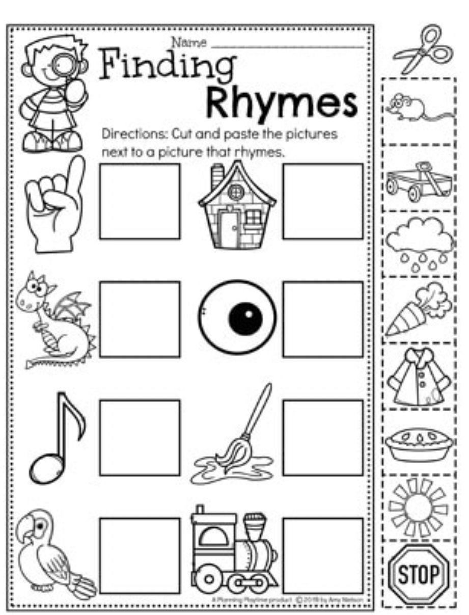 Pin By Shari On Rhyming Rhyming Words For Kids Rhyming Words Kindergarten Rhyming Words Worksheets