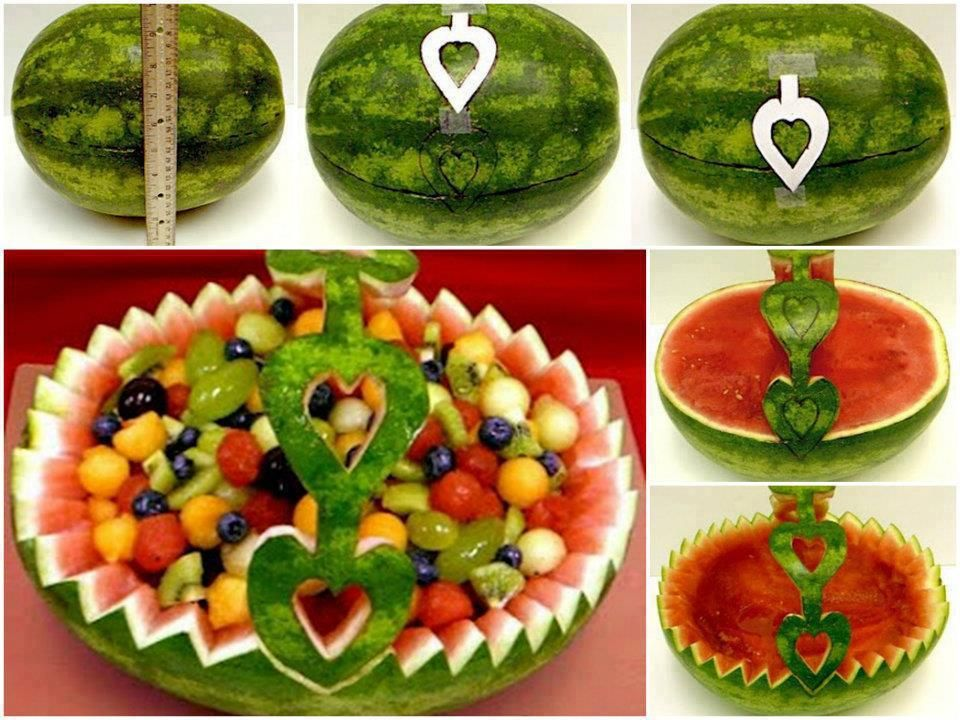 DIY Watermelon Fruit Basket Tutorial. I Love The Handles On This.