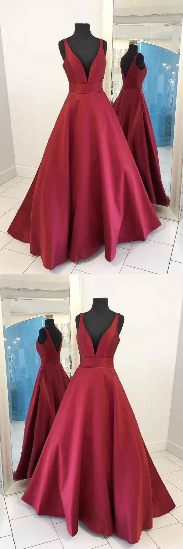 Long prom dresses prom dresses red simple prom dresses dress