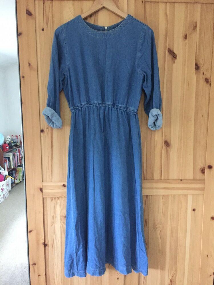 97157c1f591  DenimDress Warehouse Blue Denim Midi Dress 14 - Denim Dress  19.75 End  Date  Tuesday