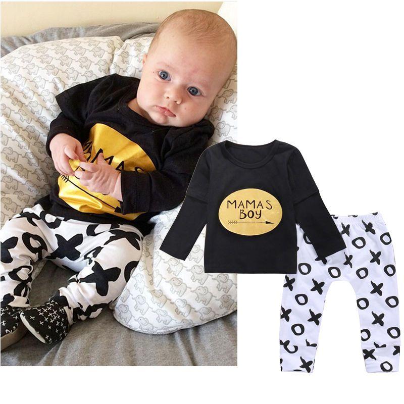 e495c6f4c42 Click to Buy    2pcs Newborn Baby Clothes 0-24M Mamas Boy Infant ...