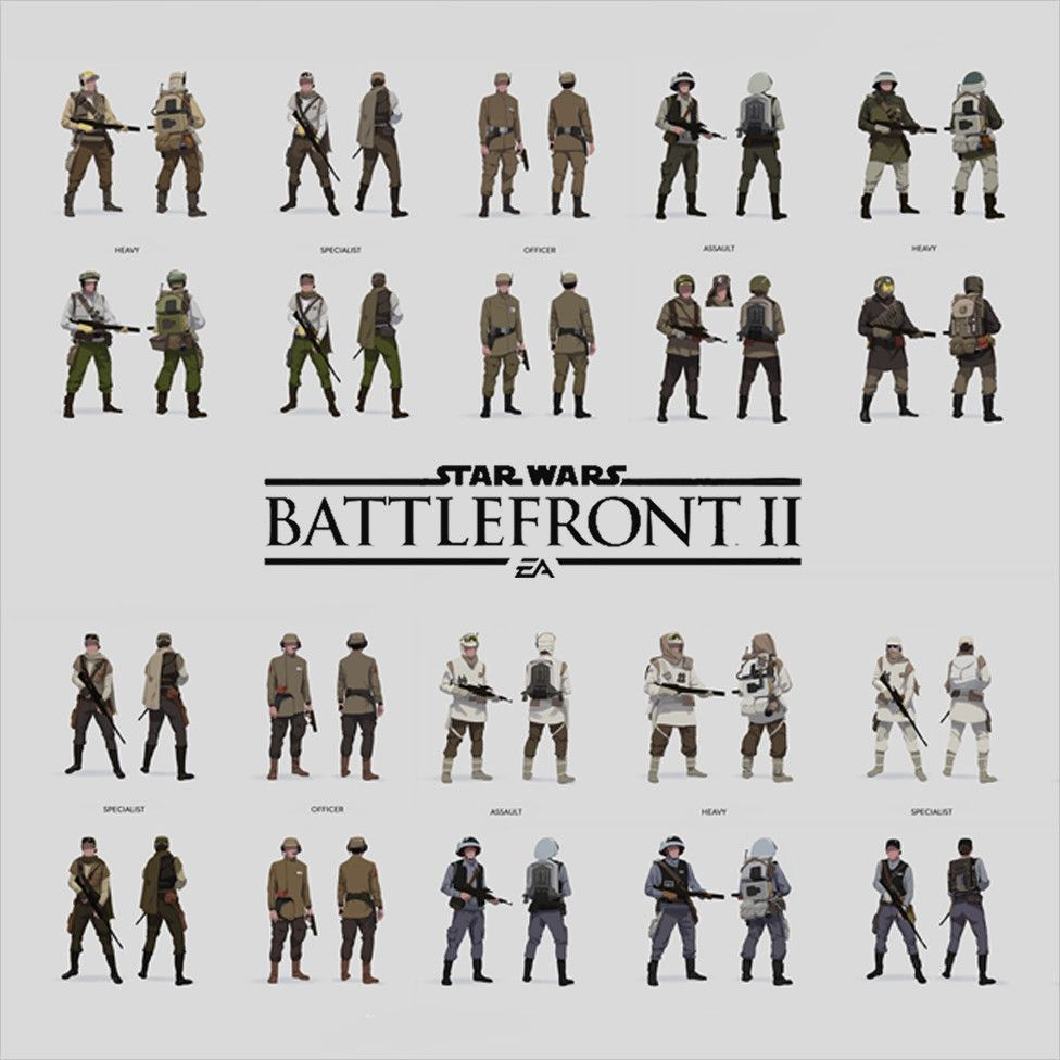 Trooper Designs For Star Wars Battlefront Ii Sigurd Fernstrom On