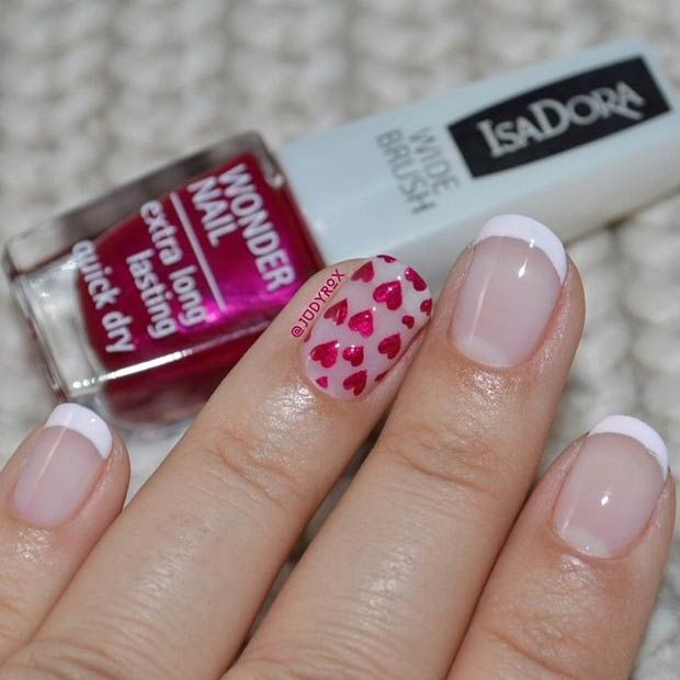 27 Pretty Nail Art Designs for Valentine\'s Day | Pretty nail art ...