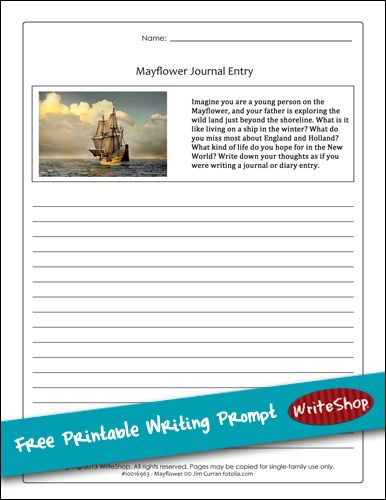 Mayflower writing prompt Homeschool, Social studies and Writing - free printable writing paper