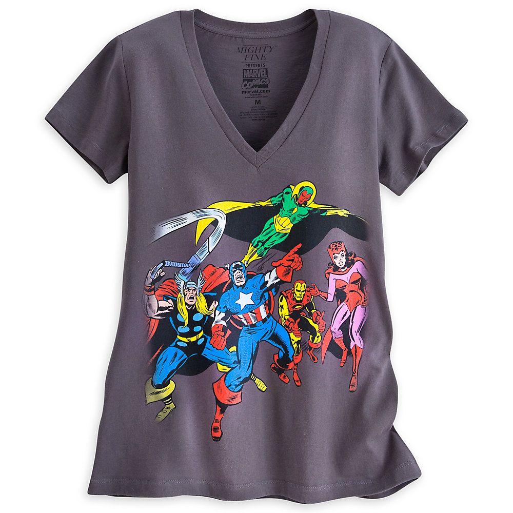 ef9e4d0629e Avengers V-Neck Tee for Women by Mighty Fine