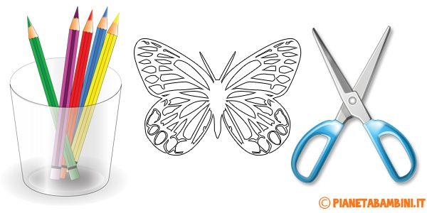 Sagome Di Farfalle Da Colorare E Ritagliare Per Bambini Disegni Da