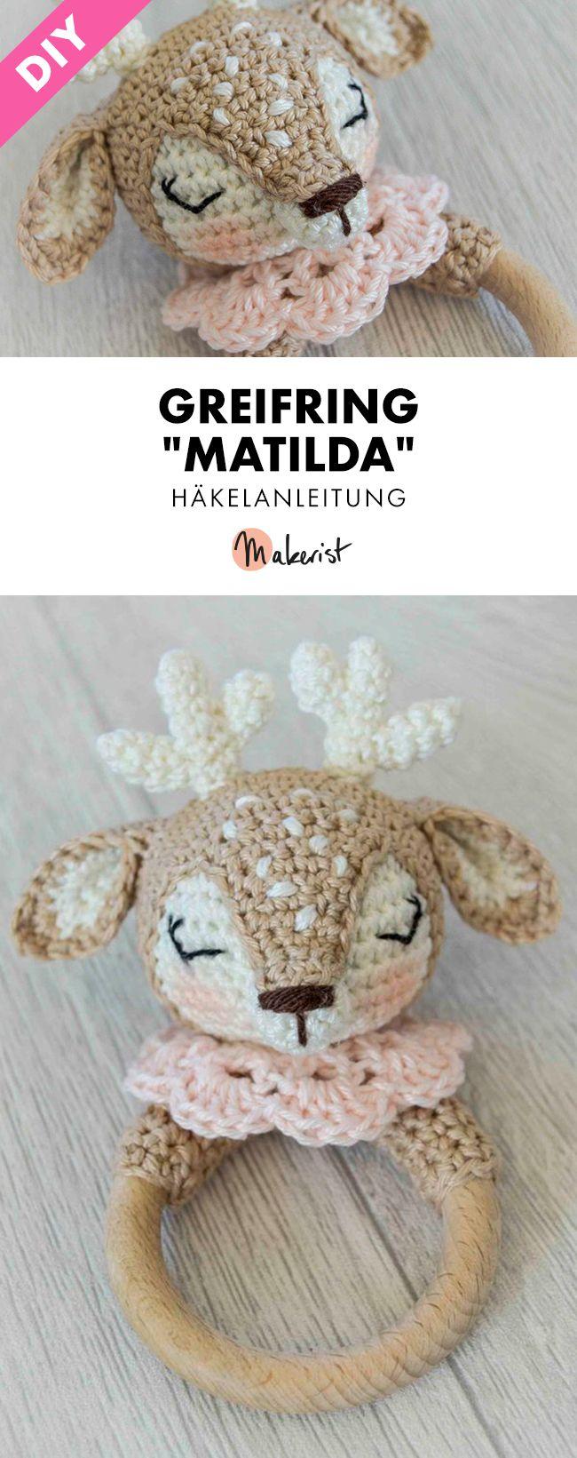 Photo of Greifring Rentier Matilda häkeln – Häkelanleitung via Makerist.de #häkeln #h…