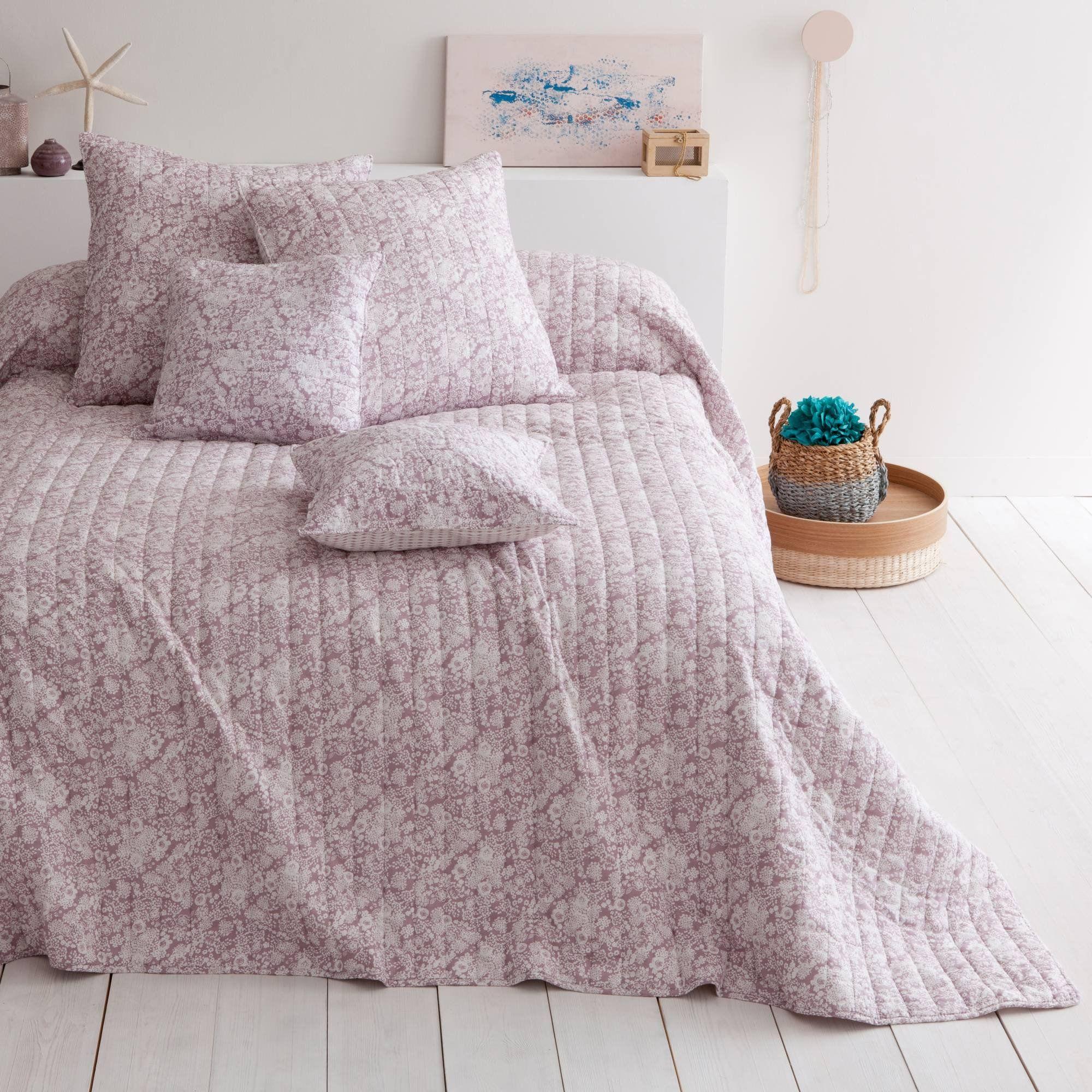 plaid ou couvre lit boutis coton gaya rose poudre harmony confort et charme du piquage boutis. Black Bedroom Furniture Sets. Home Design Ideas