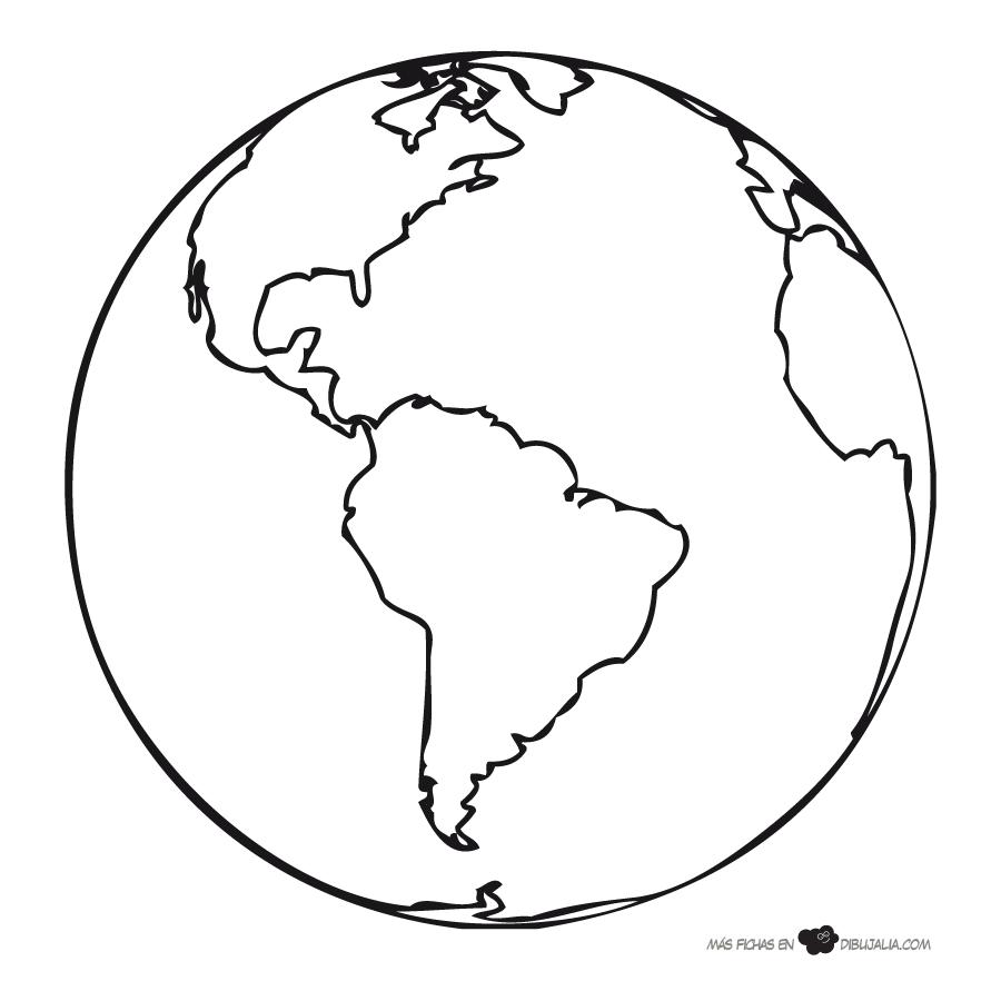 Planeta Tierra Dibujalia Dibujos Para Colorear Eventos Planeta Tierra Para Colorear La Tierra Dibujo Manualidades Del Dia De La Tierra