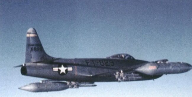 An F-80C Shooting Star from the 8th FBS over North Korea